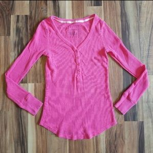 Thermal Pink Long Sleeve Top • Sz Small